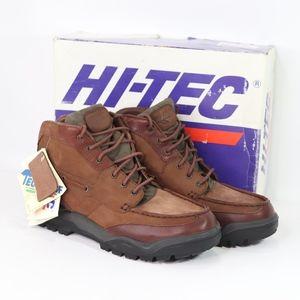 Vtg New Hi Tec Mens Navajo Leather Hiking Boots